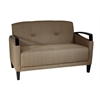 Office Star Main Street Loveseat in Woven Seaweed