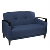 Office Star Main Street Loveseat in Woven Indigo