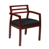Office Star Napa Cherry Guest Chair with Wood Back (1-Pack)