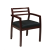 Office Star Napa Mahogany Guest Chair with Wood Back (1-Pack)