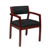 Office Star Napa Cherry Guest Chair with Upholstered Back (1-pack)