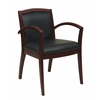 Napa Mahogany Guest Chair With Full Cushion Back