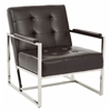 Office Star Nathan Chair in Espresso Croc Faux Leather
