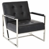 Office Star Nathan Chair in Black Croc Faux Leather