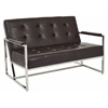 Office Star Nathan Loveseat in Espresso Croc Faux Leather