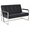 Office Star Nathan Loveseat in Black Croc Faux Leather
