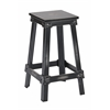 "Office Star New Castle 26"" Antique Black Metal Barstool, KD"