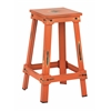 "Office Star New Castle 26"" Antique Orange Metal Barstool, KD"