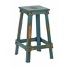 "Office Star New Castle 26"" Antique Turquoise Metal Barstool, KD"