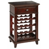 Office Star Napa Wine Rack Storage in Cherry Finish