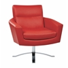Office Star Nova Chair With Red Faux Leather By Ave 6