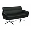 Office Star Nova Loveseat With Black Faux Leather by Ave 6