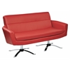 Office Star Nova Loveseat With Red Faux Leather by Ave 6