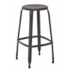 "Newark 30"" Metal Barstool In Antique Black Finish 4-Pack. Fully Assembled."