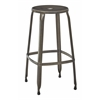 "Newark 30"" Metal Barstool In Antique Gunmetal Finish 2-Pack. Fully Assembled."