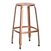"Newark 30"" Metal Barstool In Copper Finish 2-Pack. Fully Assembled."