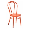 Office Star Odessa Metal Dining Chair with Backrest in Solid Orange Finish- Ships Fully Assembled, 2-Pack