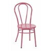 Office Star Odessa Metal Dining Chair with Backrest in Pastel Pink FInish - Ships Fully Assembled, 2-Pack