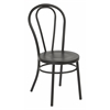 Odessa Metal Dining Chair with Backrest in Frosted Black Finish- Ships Fully Assembled, 2-Pack