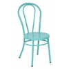 Odessa Metal Dining Chair with Backrest in Pastel Teal - Ships Fully Assembled, 2-Pack
