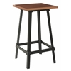 Olympia Metal Bar Table with Copper Top and Matte Black Legs