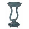 Chase Round Accent Table in Antique Caribbean Blue Finish, Assembled