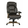 Office Star Executive Bonded Leather Chair (Cocoa/Espresso)