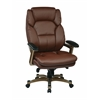 Office Star Executive Bonded Leather Chair (Cocoa/Wine)
