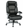 Office Star Executive Bonded Leather Chair (Silver/Black)