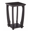 Mila Square Accent Table in Brushed Black Wood Finish, Ships Fully Assembled.