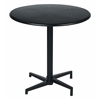 "Oxton 30"" Round Folding Table in Matte Black"