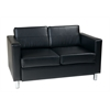 Office Star Pacific Loveseat in Black