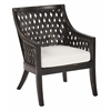 Plantation Lounge Chair With Cushion in Antique Black Finish
