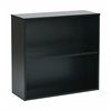 "Office Star Prado 30"" 2 Shelf Bookcase, 3/4"" Shelf Black"