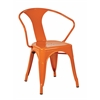 "Office Star OSP Designs 30"" Metal Chair (4-Pack) Orange"