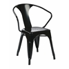 "30"" Metal Chair (2-Pack) (Black)"