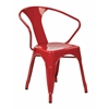 "Office Star 30"" Metal Chair (4-Pack) (Red)"