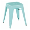 "Patterson 18"" Metal Backless Barstool in Mint Finish, Fully assembled, 4 Pack"