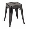 "Office Star Patterson 18"" Metal Backless Stool in Black Solid Finish, Fully Assembled, 2-Pack"