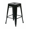 "24"" Steel Backless Barstool (2-Pack) (Black)"