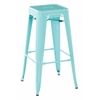"30"" Steel Backless Barstool in Mint Green Finish (2-Pack)"