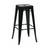 "30"" Steel Backless Barstool (4-Pack) (Black)"