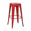 "Office Star 30"" Steel Backless Barstool (4-Pack) (Red)"