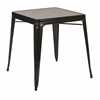 Office Star Paterson Metal Table in Black Finish