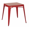 Office Star Paterson Metal Table in Red Finish