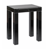 Reflections Accent Table with Black Glass Finish, KD