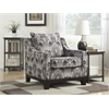 Office Star Regent Chair in Arizona Onyx Fabric with Black Legs