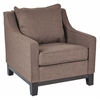 Office Star Regent Chair in Milford Dolphin Fabric with Dark Expresso Legs