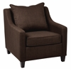 Office Star Regent Chair in Milford Java Fabric with Dark Expresso Legs