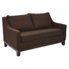 Office Star Regent Loveseat in Milford Java Fabric with Dark Expresso Legs